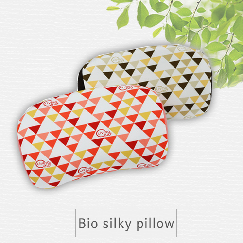 Bio Silky pillow, Cervical Hypolordosis syndrome, pillow, deep sleep, C-curve support fo healty neck, Bio-urethane, Far infrared ray, Phytoncide